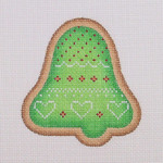 "BB 0934 Gingerbread / Cookie / Bell / Green 3.5"" x 3.25""	18 Mesh Burnett And Bradley"