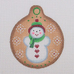 "BB 0962 Christmas Ball / Snowman 3"" Round	18 Mesh Burnett And Bradley"