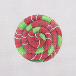 "BB 1085	Pinwheel / Red / Green / White 2.75"" Round 18 Mesh  Burnett And Bradley"