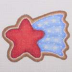 "BB 1111 Shooting Star / Red, White & Blue 3"" x 3.25""	18 Mesh  Burnett And Bradley"