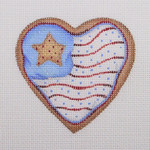 "BB 1102 Heart Shaped Flag 3.25"" x 3.25""	18 Mesh  Burnett And Bradley"
