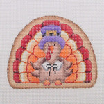 "BB 1140 Turkey with Pilgrim Hat 3"" x 3.5""8  Mesh  Burnett And Bradley"