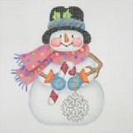 "BB 1170 Snowman / Stick Arms 4.5"" x 3.75""18 Mesh  Burnett And Bradley"