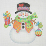 "BB 1165 Snowman / Stick Arms, Mittens, Package 4.5"" x 4.25"" 18 Mesh  Burnett And Bradley"