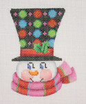"BB 1225 Snowman Face / Top Hat with Large & Small Circles 4"" x 3""	18 Mesh  Burnett And Bradley"