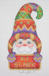 "BB 1276 Santa / Hook Hat / Sign-OLE ST. NICK 5""	18 Mesh  Burnett And Bradley"