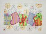 "BB 1300 Socks, Packages & Snowflakes 5.75"" x 8"" 18 Mesh  Burnett And Bradley"