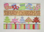 BB 1301	MERRY CHRISTMAS / Socks & Trees 8 X 6 18 Mesh  Burnett And Bradley