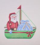 "BB 1313 Sailboat / Green / Santa and Toy Bag 5.25"" x 5""18 Mesh  Burnett And Bradley"