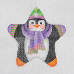 "BB 1403 Mini-Star Penguin 3.5"" x 3.5""	18 Mesh  Burnett And Bradley"