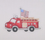 "BB 1460 Red Fire Engine / Flag 4"" x 5.5"" 18  Mesh  Burnett And Bradley"