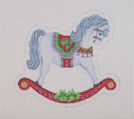"BB 1469 Christmas Ornament / Rocking Horse  5"" x 5.25"" 18 Mesh Burnett And Bradley"