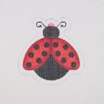 "BB 1565 Lady Bug / Red / Black  3.25"" x 3.25"" 18 Mesh Burnett And Bradley"