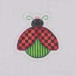 "BB 1564 Lady Bug / Red / Black 3.25"" x 3.25"" 18Mesh Burnett And Bradley"