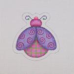 "BB 1562 Lady Bug / Purple / Pink 3.25"" x 3.25"" 18 Mesh Burnett And Bradley"