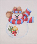 "BB 1584 Snowball / Cowboy Hat, Scarf, Cactus & Chili Peppers In Pocket 4"" x 3.5"" 18 Mesh Burnett And Bradley"
