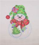 "BB 1587 Snowball  Christmas Tree 4.25"" x 3""  18 Mesh Burnett And Bradley"