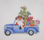 "BB 1735 Santa on the move in a Truck  5 1/2"" 18 Mesh Burnett And Bradley"