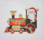 "BB 1743 Santa on the move in a Train 4"" x 5"" 18 Mesh Burnett And Bradley"