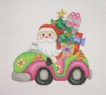 "BB 1746 Santa on the move in a Volkswagen 5.25"" x 5.5"" 18 Mesh Burnett And Bradley"