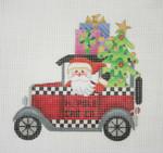 "BB 1748 Santa on the move in a N. Pole Cab  5 1/2"" 18 Mesh Burnett And Bradley"