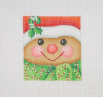 "BB 1825 Mini-Gingerbread Man Face 2.75"" x 2.5""18 Mesh Burnett And Bradley"