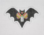 "BB 1893 Halloween / Mini-Bat / Checked Bow Tie 2.5'' x 3.5"" 18 Mesh Burnett And Bradley"
