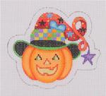 "BB 1905 Halloween / Mini-Pumpkin / Witch Hat 18 Mesh 3.25"" x 3.75"" Burnett And Bradley"