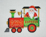 "BB 2131 Train / Engine with Santa 4.5"" x 3.5"" 18 Mesh Burnett And Bradley"