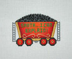 "BB 2132	Christmas Ornament / Train / Coal Car 	3.5"" x 3.5"" 18 Mesh Burnett And Bradley"