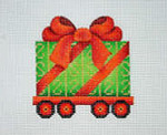 "BB 2138	Christmas Ornament / Train / Package Car 	3.5"" x 3.5"" 18 Mesh Burnett And Bradley"