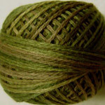 Valdani Floss 5VAP11 Pearl Cotton Size 5 Ball Green Olives - 5VA519