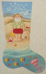 LL153A Labors Of Love  Beach Santa Stocking 13 12.75x21