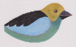 LL306Y Green and Blue Bird 18 Mesh 5x3 each (2) Labors Of Love