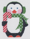 LL604 Penguin with Candy Cane 18 3.75x5 Labors Of Love 18 Mesh