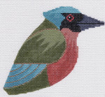 LL306ZTurquoise-browed Motmot18 Mesh4.25x3.75 each (2) Labors Of Love