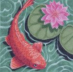 LL315 Koi with Pink Flower	18	Mesh 6x6 Labors Of Love