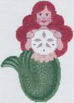 LL511DMini Mermaid with Sand Dollar 13.75 x 5.2518 Mesh  Labors Of Love