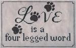 LL417Love is a Four Legged Word13 Mesh11x7  Labors Of Love