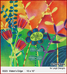 """6323 Water's Edge SUMMER IN THE PARK 10 x 10"""" Leigh Designs 18 Count Canvas"""