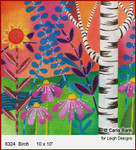 """6324 Birch  SUMMER IN THE PARK 10 x 10"""" Leigh Designs 18 Count Canvas"""