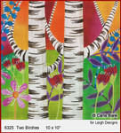 """6325 Two Birches  SUMMER IN THE PARK 10 x 10"""" Leigh Designs 18 Count Canvas"""