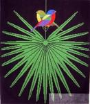 Charley Harper Flamboyant Feathers HC-F129 18 Mesh 14 x 16 Treglown Designs