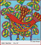 """6320 Red Bird SUMMER IN THE PARK 10 x 10"""" Leigh Designs 18 Count Canvas"""