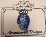 Owl Blue Glamorous MAGNET Accoutrement Designs
