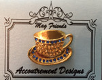 Teacup Gold Blue Accoutrement Designs