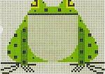 Charley Harper Frog CH-F015 13 Mesh 7x7 Treglown Designs