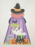 "BB 0602 Halloween Witch Back  9"" x 6.5""18 Mesh  Burnett And Bradley"