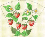 15 Strawberries Scissor Case5.5 x 4.518 Mesh Silver Needle Designs