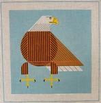 Bald Eagle Charley Harper CH-B063 18 Mesh 12x12 Treglown Designs
